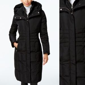 Calvin Klein Hooded Long Quilted Down Puffer Coat
